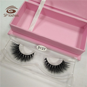 Wholesale magnet packaging amazing 3D real mink fur strips lashes