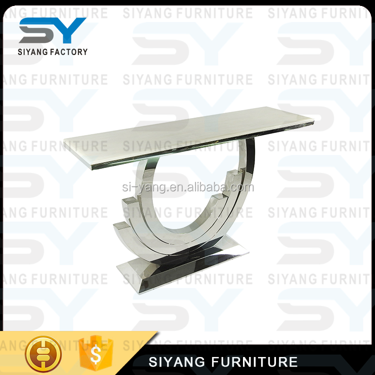 Furniture From China Online Plexigl Stainless Steel Console Table Xg004