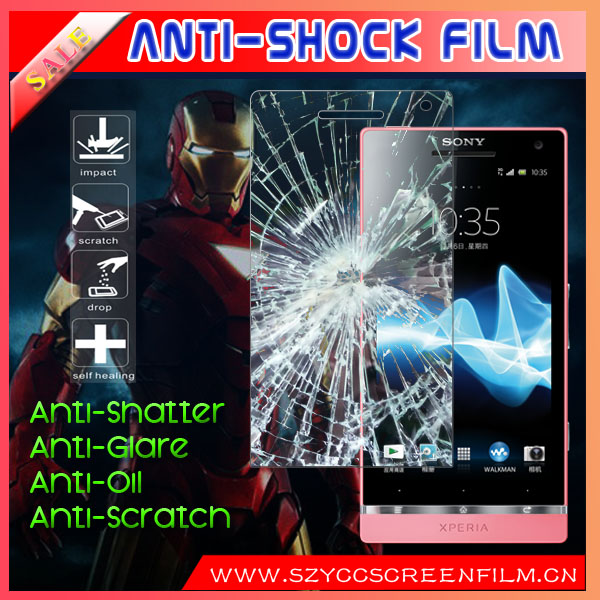 Super Imported Material For Sony LT26II Xperia SL Shock Resistance Screen Protector With Factory Price