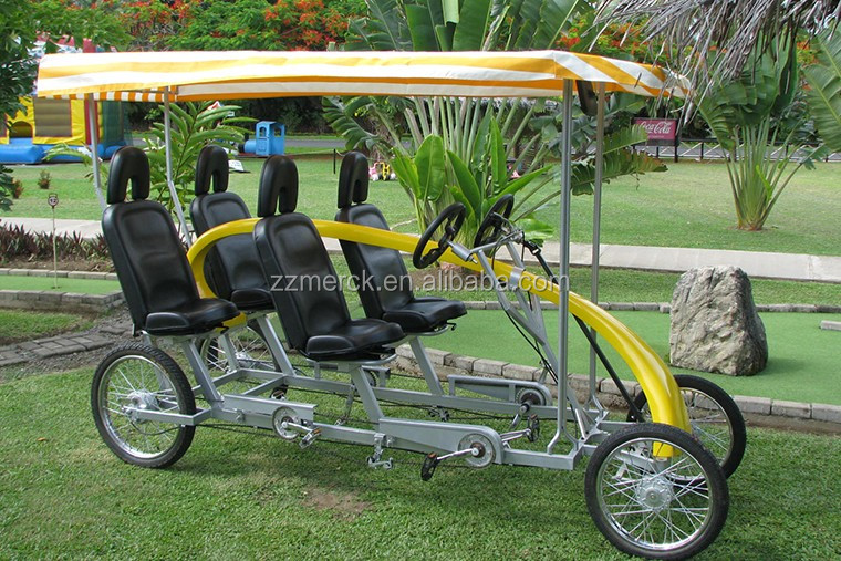 2 And 4 Rider Adult Side By Side Pedal Quadricycle Buy Side By