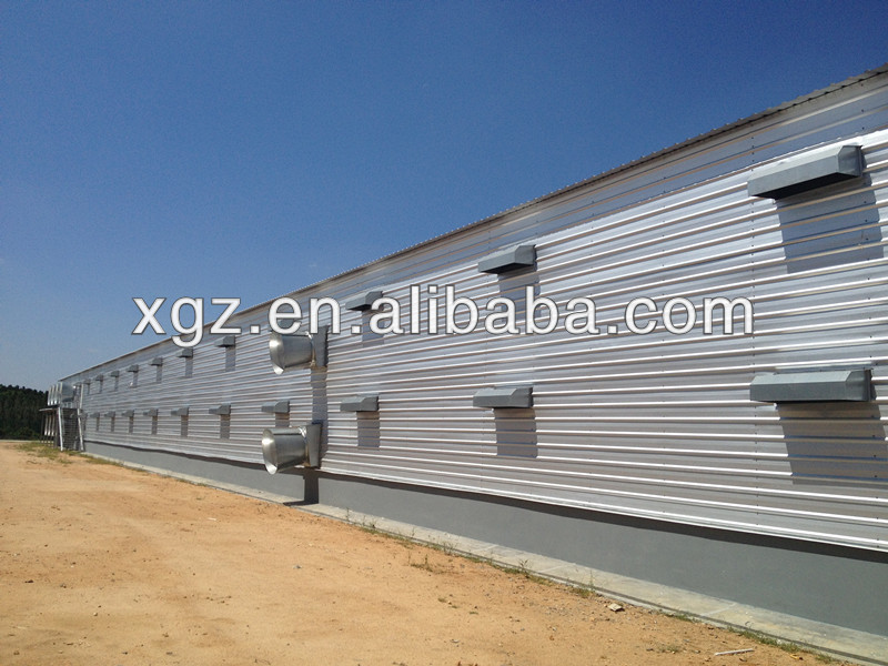 light weight steel structure chicken house for sale