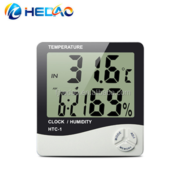 HTC-1 Wanduhr digitales Thermometer-Thermo-Hygrometer