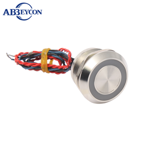 Sealed Waterproof IP68 Stainless steel Led Latching ON-OFF Piezo Switch