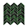 classic decorative black and green backsplash 3mm stained glass mosaic tiles WD8095