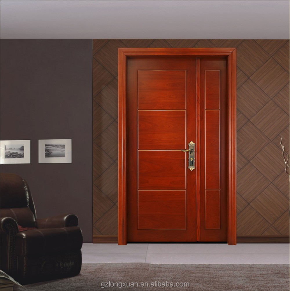 Latest flat exterior solid wooden door made in china buy for Flat solid wood door