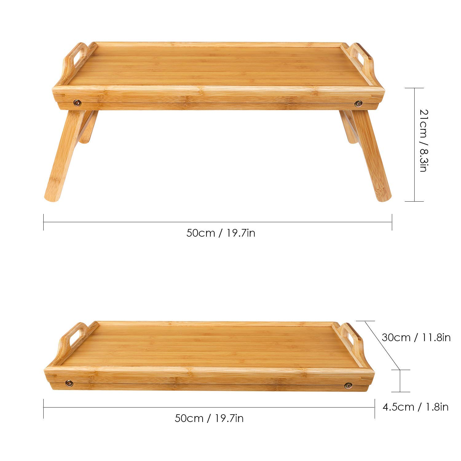 Natural Bamboo Serving Tray Set Bed Tray Breakfast Table With Legs Bamboo Tray Serving 7