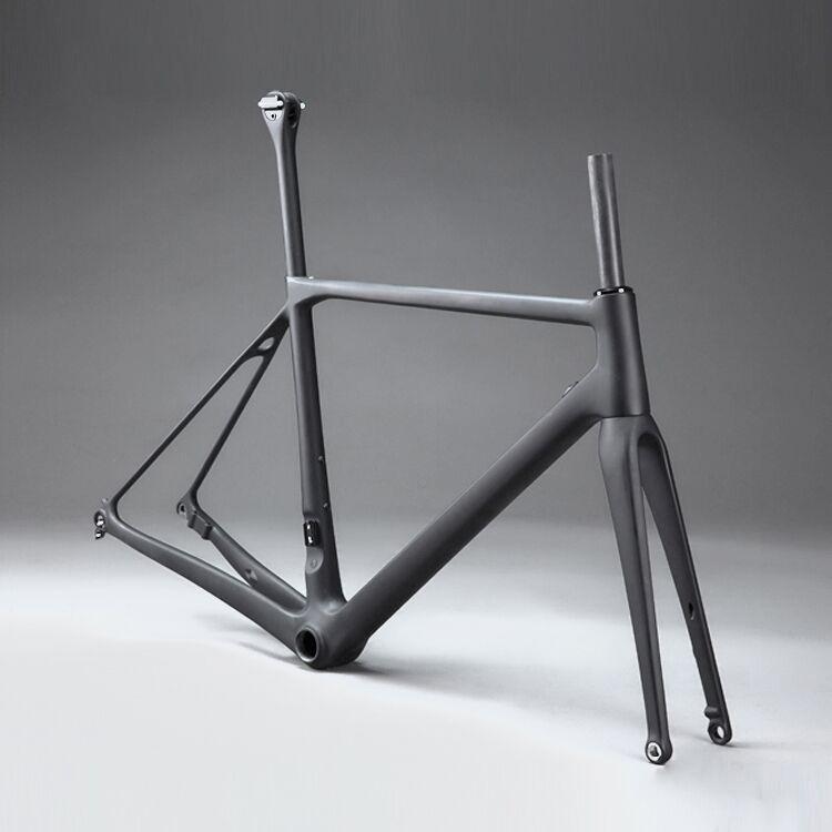Newest Flat Mount disc carbon road frame road disc brake bike carbon frame axle design disc carbon superlight frame