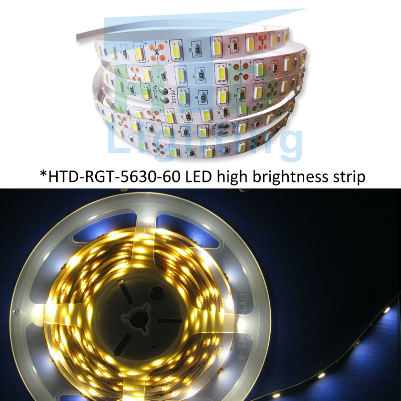 Led Strip Light 5m Smd 2835 Dc12v 60 Led/m Flexible Rope Non-waterproof Indoor Decortion String Light More Than 3528 5630 Lamp Led Strips