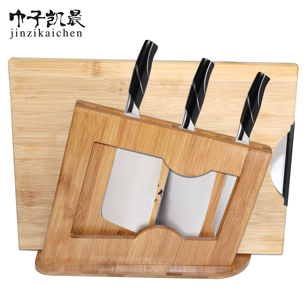 Hot Sale Bamboo Material Knife Holders Cutting Boards Stand
