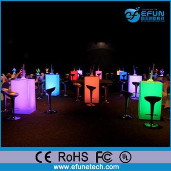Ordinaire Bar Furniture Led Light Up Table, Rgb Color Change Party Led Light Cocktail  Tables