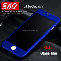 360 Protective Case For iPhone 6 6S 7 Plus 3in1 Front Back Cover Full Body Coverage Phone Cover