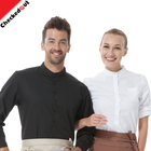 High quality hotel waiter shirt short - sleeved thin section men and women kitchen work clothing shirt