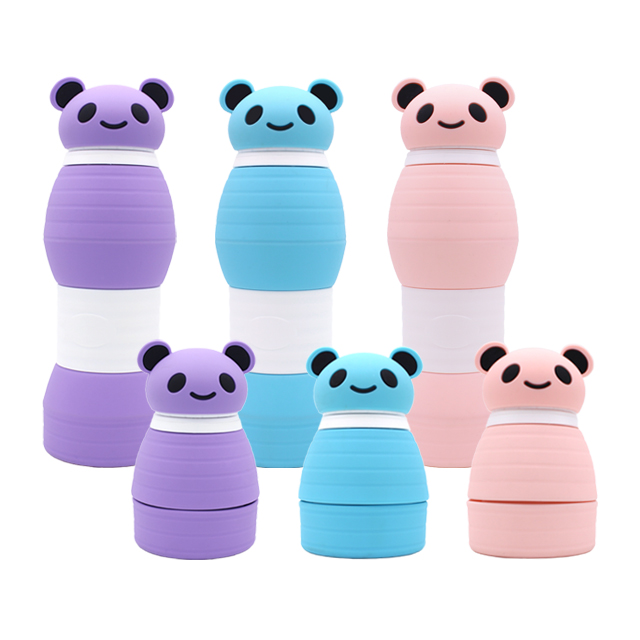 Alibaba Best Sellers Wholesale Portable BPA Free  Collapsible Silicone  Water Foldable Bottle For Kids