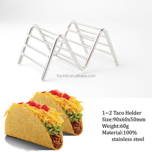 Hold Up To 1Or 2 Tacos Per Piece-Taco Holder Stand, Taco Rack Tray - Oven, Dishwasher and Grill Safe