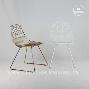 bend lucy chair wire replica wire chair white and gold colors