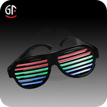 Christmas Party Giveaways Led Cheap Factory Price Voice Controlled Light Up  Sunglasses aeb70616e