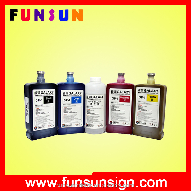 Original galaxy dx5 eco solvent ink for sticker plotter
