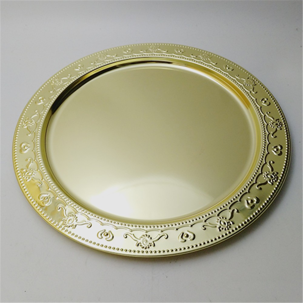 13 inch High Quality Metal Gold Charger Plates wedding Silver Glitter charger plates for wholesale