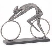 outdoor decor original natural marble man abstract cycling sculpture