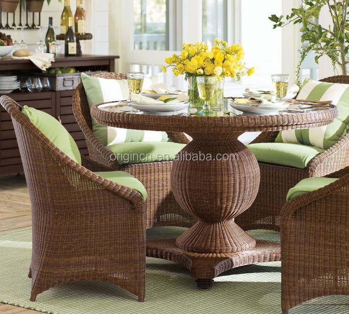 Glass Top Round Table And Chairs Rattan Outdoor Home