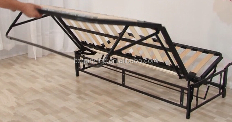 Newest Retractable Saving Space Wooden Slat King Size Sofa