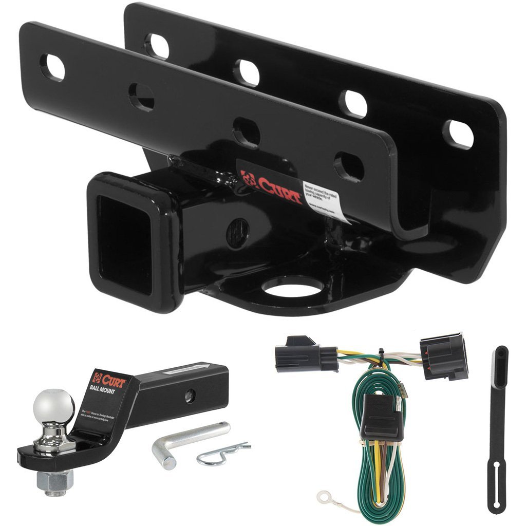 "CURT Class 3 Hitch Tow Package with 1-7/8"" Ball for 2007-2016 Jeep Wrangler"