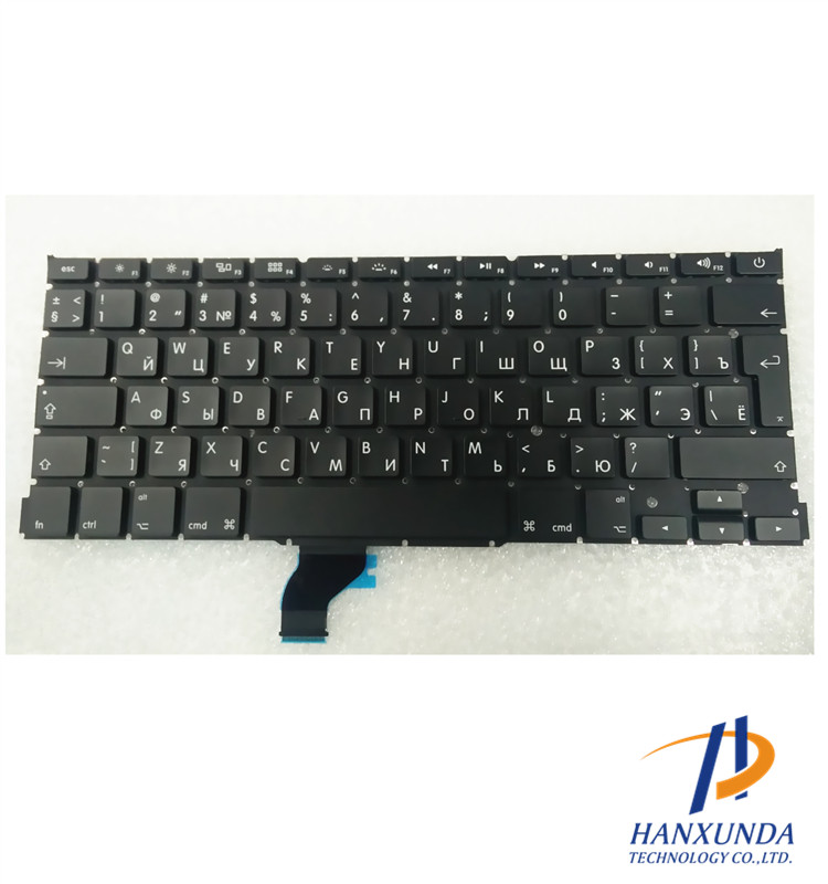 Original New 2013 2014 2015 year for laptop 13 inch A1502 keyboard RU Russia layout No top case replacement