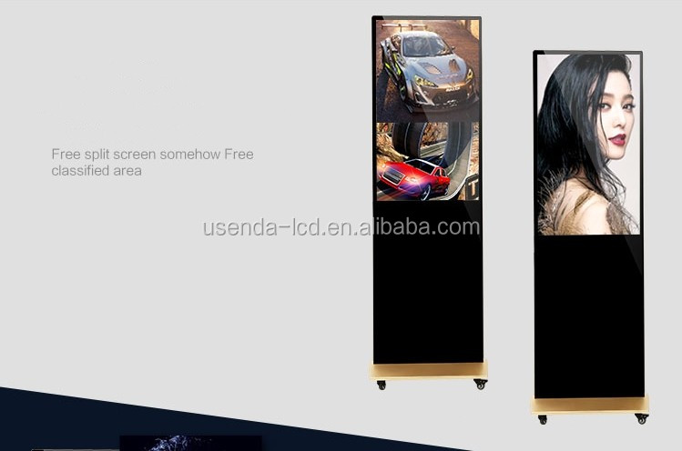 43 inch floor standing lcd ad player wireless wifi/3g advertising player