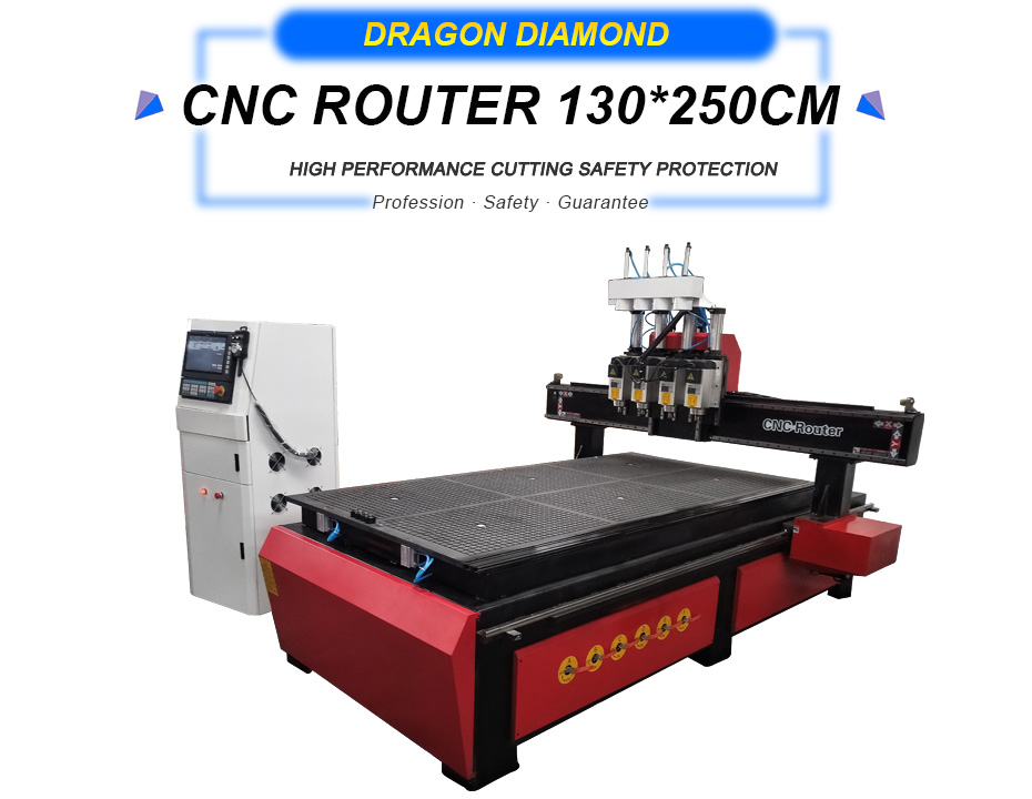 CNC 4 Heads Wood Engraving and Cutting Machine