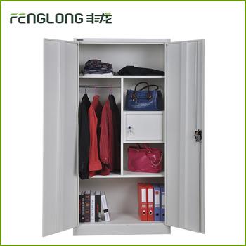 Metal Locker Style Storage Cabinet With Safe Box Inside 2 Swing ...