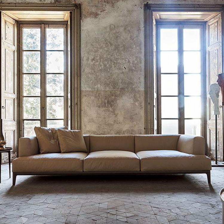 Light Green Leather Sofa Italian Style
