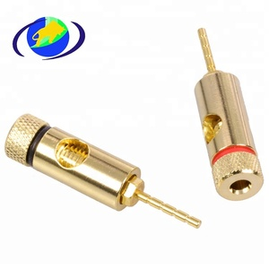 Custom Monoprice 5 PAIRS OF High-Quality Gold Plated Speaker Pin Plugs CNC Machining parts