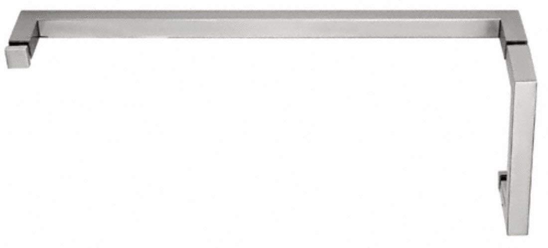 "C.R. LAURENCE SQ6X24SC CRL Satin Chrome ""SQ"" Series Combination 6"" Pull Handle 24"" Towel Bar"