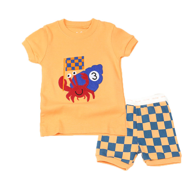 2015 Brand New Pyjamas Kids 100% Pure Cotton Summer Style Short Sleeve Casual Pajamas For Girls 2Pcs Baby Boys Clothing Sets