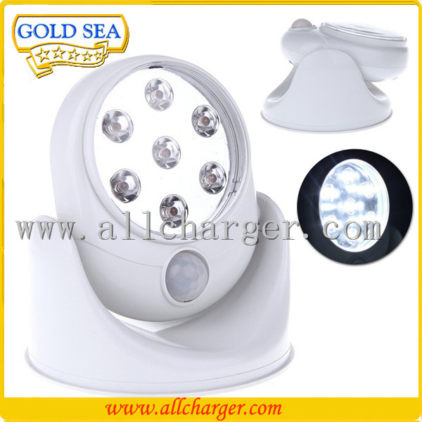 Motion Activated Cordless Sensor LED Light Indoor Outdoor Garden Rotates 360 Degrees Motion Sensor 7 LEDs Light