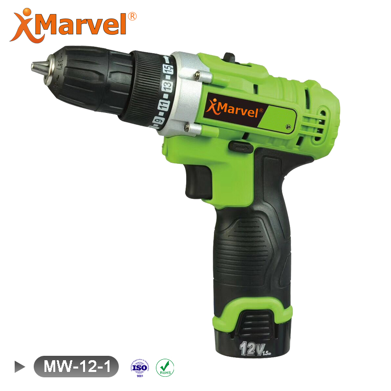 Li-ion Battery Type led light screwdriver magnetic impact drill cordless