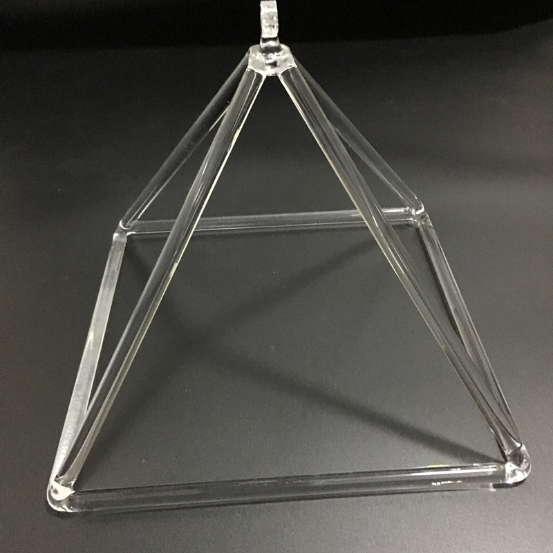 CJ natural quartz crystal clear singing pyramid for sound therapy