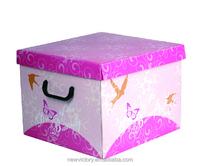 Eco-friendly cardboard Fancy Storage Box