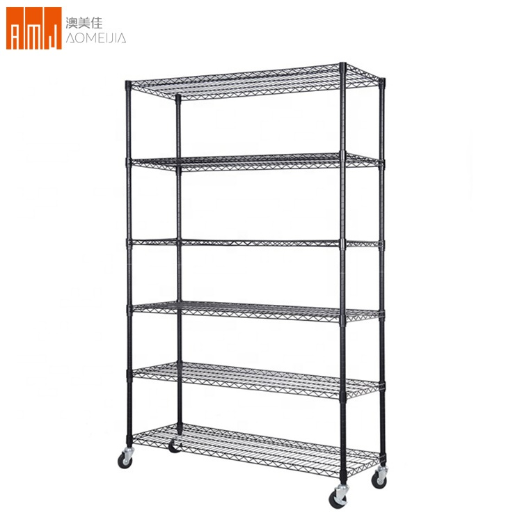 76&quot;x48&quot;x18&quot; Commercial 6 Tier Shelf Adjustable <strong>Steel</strong> Wire Metal Shelving