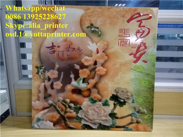 Super high speed 3020 size ceramic wall background UV printer 30sqm/h,4PASS