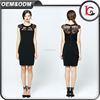 new fashion summer sexy black lace one piece slim fit dress zipper round neck ladies western dress designs
