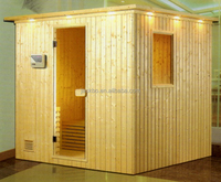 3 person indoor body enjoying far infrared Sauna house for family dry steam