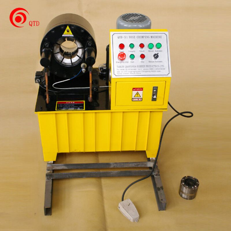 Big promotion in China! hot sale hydraulic hose press machine QTD-51 of factory production with CE Certificates!