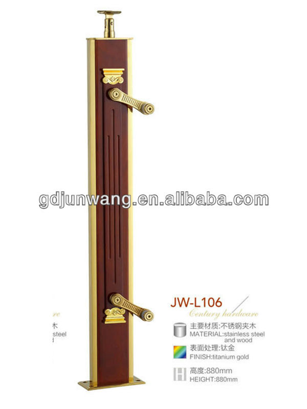 Modern interior stair railings with tempered glass designs JW-L106