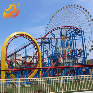 Outdoor amusement park rides attraction folded cheap roller coaster for sale