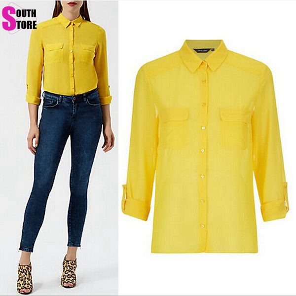 Para Mujer Camisetas Amarillas - Compra lotes baratos de