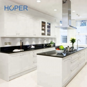 white color lacquer modern kitchen cabinet