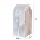 Clear Full Zip Material PEVA Suit Clothing Dust Proof Container garment bag suit cover plastic