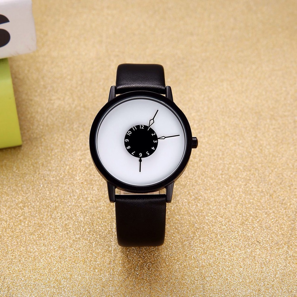 2016 Newest PVD Plating Stylish Design Fashion Rotating Dial White No Names Watch