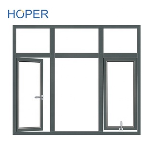 Australian Standard aluminum single glass cheap container house awning window